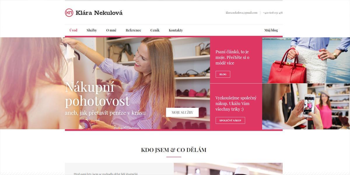 Klára Nekulová web