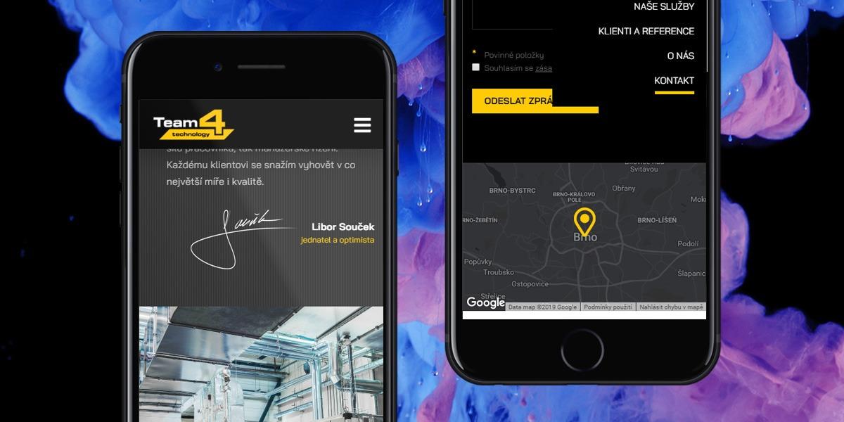 Team4technology mobilní verze