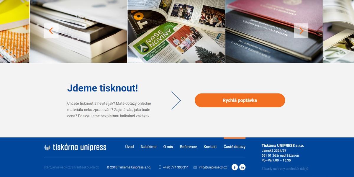 Tiskárna Unipress rychlá poptávka