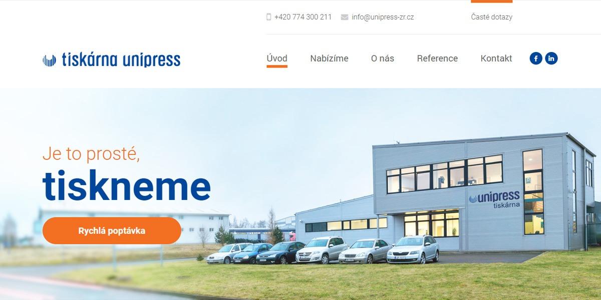 Tiskárna Unipress web