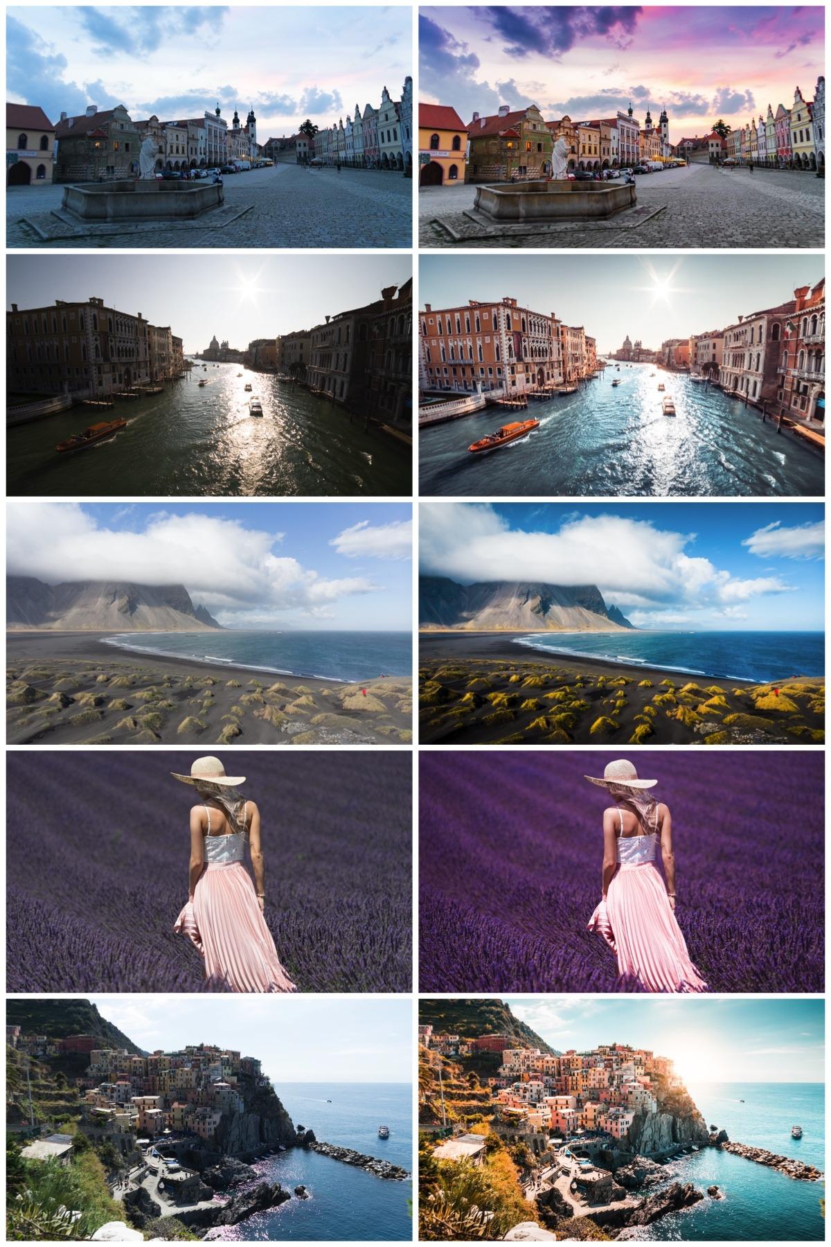 Fotografie před a po