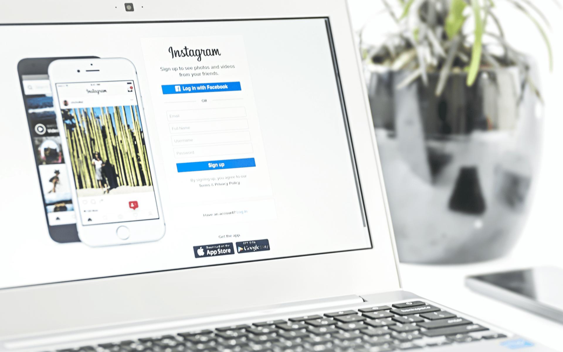 Instagram posílání zpráv přes web